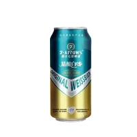 [当当自营] 荷兰七箭精酿原浆白啤酒500ml*12听 整箱
