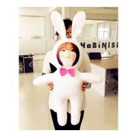 照片抱枕大白兔玩偶不二兔子人偶定制做人形抱枕七夕生日礼物女生 其他规格
