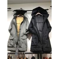 P6冬季新韩版羽绒服女中长款加厚 情侣款字母刺绣显瘦外套1.1