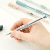 晨光优品中性笔黑色小清新水笔学生用简约全针管签字笔笔芯0.35mm