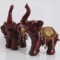 大象摆件一对大号客厅电视柜镇宅风水家居装饰品开业乔迁礼品