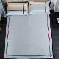 冰丝凉席可水洗1.8m床夏季纯色织带1.5米折叠三件套学生机洗席子