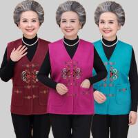 中老年人马甲女坎肩50岁妈妈秋装羊毛衫开衫60岁70奶奶装毛衣背心