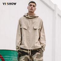 VIISHOW2018新款夹克男 个性套头高领港风bf外套男士休闲嘻哈上衣