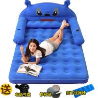 KT猫卡通龙猫懒人沙发气垫床充气床双人家用加大单人床垫加厚气垫SN1820 双人 史迪仔 2.2*1.5 1x1x1c