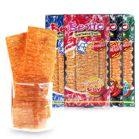泰国进口零食Bento拌多乐超辣鱿鱼片 辣条零食手撕鱿鱼片干丝包邮
