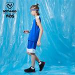 诺诗兰童装儿童套装2021夏装男童速干无袖两件套大童篮球套运动服