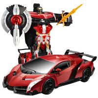 儿童充电遥控汽车兰博基尼小孩玩具感应变形机器人男孩生日礼物