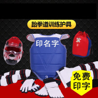 20180915030422438龙跆拳道护具全套五件套训练套装儿童全套八件套实战加厚