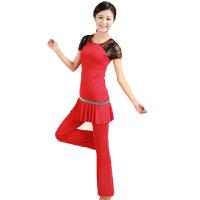 广场舞跳舞服装大码运动健身裙裤套装广场舞舞蹈服装瑜伽舞蹈