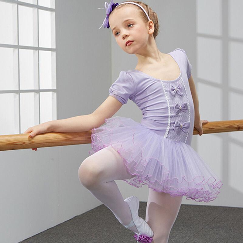 儿童舞蹈服装女童短袖练功服幼儿体操服芭蕾舞裙少儿演出服节目舞台