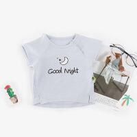 【特价】2018夏季新款儿童T恤短袖卡通字母套头衫韩版婴儿衣服
