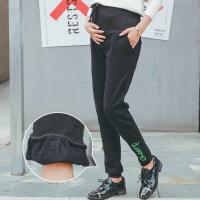 黛孕妇装加绒收口孕妇长裤秋冬装新品韩版托腹裤孕妇裤M-1953