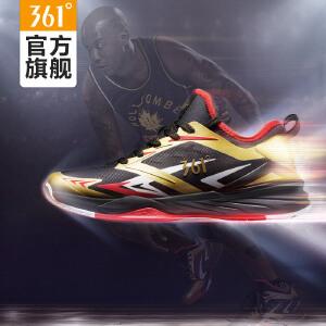 361度篮球鞋冬季新款361透气男子防滑耐磨中帮篮球鞋