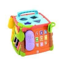 【当当自营】费雪探索学习六面盒(双语)儿童早教益智形状认知打电话玩具CMY28