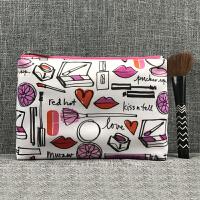 创意时尚涂鸦彩绘化妆包大容量收纳包手拿包杂物小包个性洗漱包