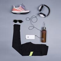 夏季瑜伽健身裤 运动跑步裤长裤女士紧身速干 黑色 健身裤单裤 XL
