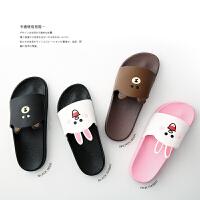 拖鞋女夏可爱浴室内居家用韩国卡通情侣厚底防滑一家三口儿童拖鞋