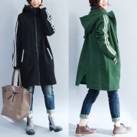 胖女人冬装女胖mm2017新款外套大码显瘦百搭运动休闲加绒加厚棉衣