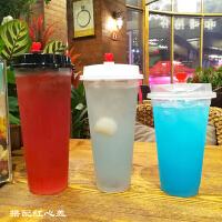 90口径特厚370/420/500/600/700ML一次性果汁奶茶塑料杯