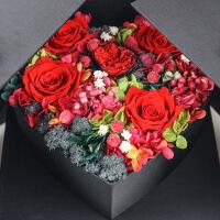 永生花礼盒 心形 玫瑰永生花心形定制首饰礼盒情人节求婚周年纪念七夕节送女友