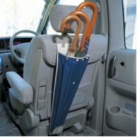 汽车雨伞置物袋 车用伞包悬挂式车后座椅背收纳防水袋 伞桶伞套袋 图片色
