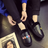 棉拖鞋女厚底冬季韩版卡通情侣居家室内保暖防水pu皮拖鞋男士