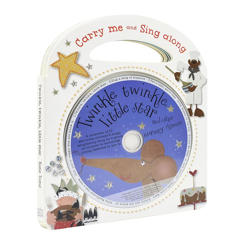 Carry Me and Sing Along 一闪一闪亮晶晶等10首附CD 英语儿歌 英文原版进口图书 Twinkle Twinkle Little Star