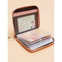 真皮防盗刷卡包女式防消磁大容量卡夹小巧多卡位简约牛皮银行卡套