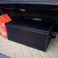 皮革汽车内尾箱收纳箱后备箱储物盒车载用整理箱子后背行李置物箱