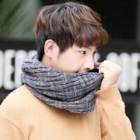 韩版男士毛线围巾情侣学生脖套潮百搭套头围脖男女保暖