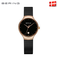 bering白令女士手表时尚进口北欧时尚钢带少女蓝宝石镜面13326