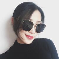 大框复古风墨镜女韩版潮2018网红同款眼镜新款太阳镜圆脸