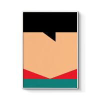 现代简约海报装饰画客厅沙发背景挂画个性创意设计画英雄角色 50x70cm嵌框 单幅价格 木色