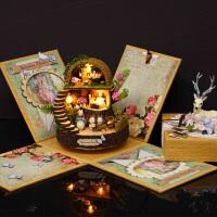 模型别墅创意玩具女生生日礼物奇幻森林DIY小屋手工制作拼装房子