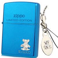 芝宝Zippo正品防风打火机 蓝冰雕刻贴章 XX-BL蓝冰银色小熊 熊仔 独立编号限量款(手机/钥匙链)