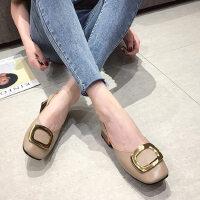 韩版户外时尚女士单鞋休闲舒适中跟鞋气质百搭女鞋潮