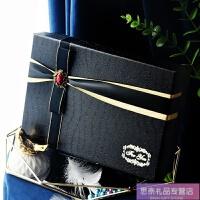 情人节化妆品香水礼品盒大号精美简约礼物盒子红色衣服礼盒包装盒