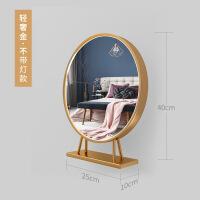 大号圆形化妆镜台式led灯化妆镜带灯泡桌面网红镜子梳妆镜美妆镜
