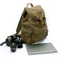 双肩帆布摄影包 佳能尼康索尼单反相机防盗背包 f2003