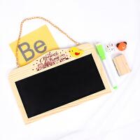 创意店铺迷你挂式粉笔小黑板 双面可用 家用教学儿童教具 写字板