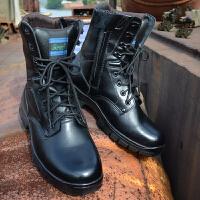 20180321063557941 时尚男士高帮军靴男马丁靴防暴靴J-129Ai新 单靴