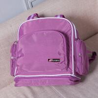 辣妈款妈咪包妈妈母婴双肩包宝宝外出行带孩子出门的包手提包斜挎 紫色 四种背法
