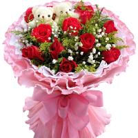 鲜花速递礼盒11朵红玫瑰花束成都西安南北京广州上海沈阳武汉郑州天津全国同城送花上门