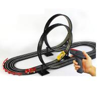 轨道赛车儿童男孩玩具电动遥控双人大型赛道小汽车套装火车总动员 jj36-2需拼装轨道约3.88米 电动发电
