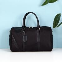 手提包男旅行健身包男士旅行包手提出差大容量行李包旅游旅行袋短途商务中小轻便单肩 黑色YKY