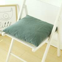 日式水洗棉可拆洗蒲绒学生办公室椅子垫子餐椅垫飘窗坐垫 45x45cm ±3cm(蒲绒内胆)