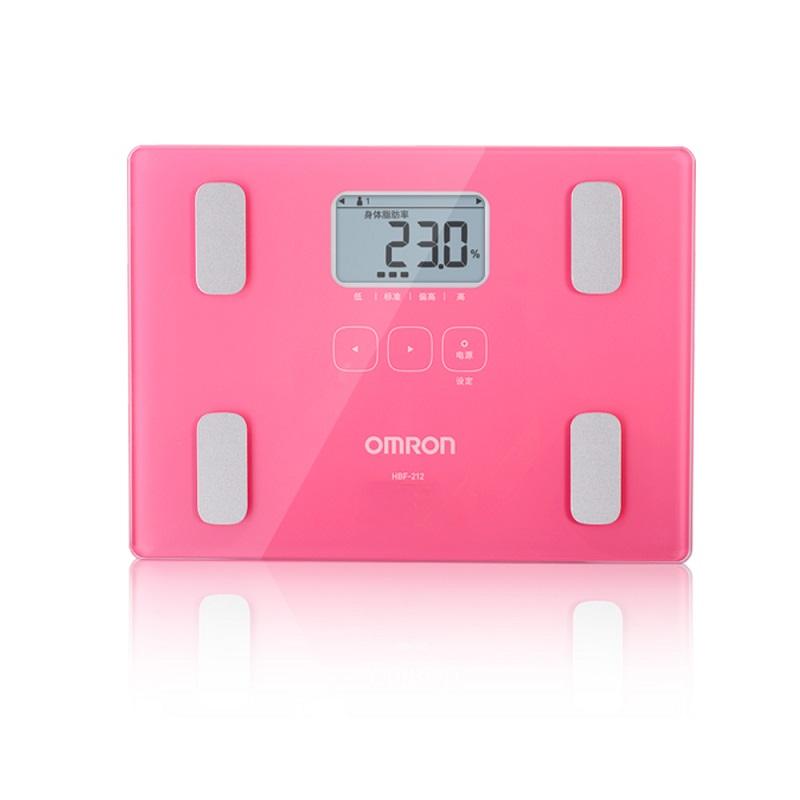 [当当自营]欧姆龙(OMRON)体重脂肪测量仪HBF-212 脂肪秤 电子秤 智能健康体脂仪身体脂肪率 BMI 内脏脂肪数 下单备注颜色!