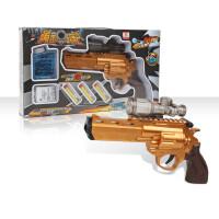 儿童玩具枪手动*可发射软弹吸男孩式 【手动】黄金战轮