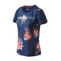adidas阿迪达斯NEO女装短袖T恤2017年新款运动服BK6870